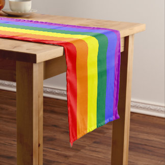 Pride rainbow table runner