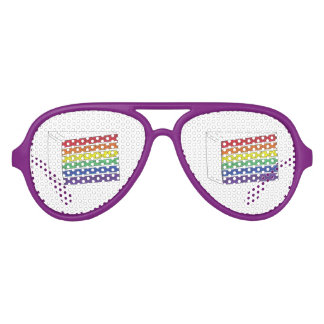 Pride Rainbow Wedding Cake Slice Party Favors Party Sunglasses
