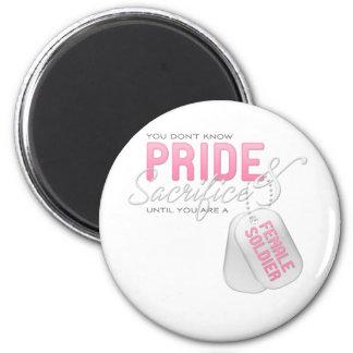 Pride & Sacrifice - Female Soldier Refrigerator Magnet