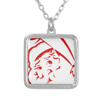 Pride store Santa Baby Silver Plated Necklace