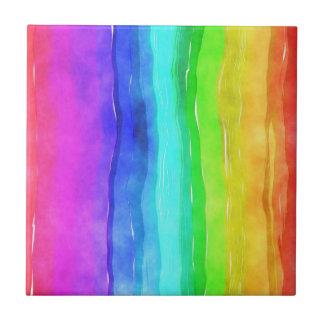 Pride symbol flag giving a discrimination lifesty tile