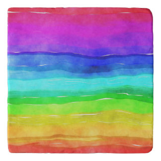 Pride symbol flag giving a discrimination lifesty trivet
