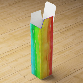 Pride symbol flag giving a discrimination lifesty wine gift box