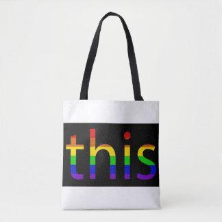 PRIDE Tote Bags Diversity Rainbow Colors