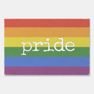 Pride Yard Sign rainbow