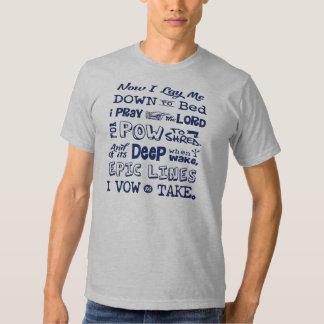 Prière de neige t-shirts