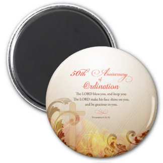 Priest, 50th Anniversary of Ordination Blessing Magnet