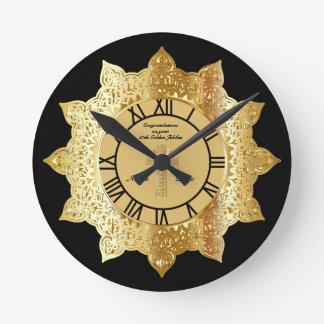Priest 50th Golden Jubilee Gold Personalized Clock
