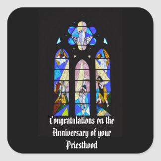 Priest Anniversary 15th 20th 25th 30th 40th 50th Square Sticker
