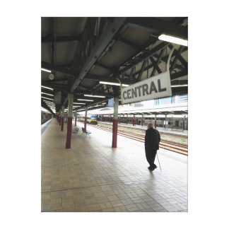 Priest at Sydney's Central Station Canvas Print
