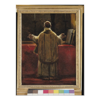Priest at the Altar Poster