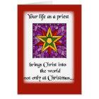 Priest Christmas Star Card