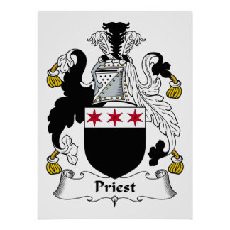 Priest Family Crest Poster