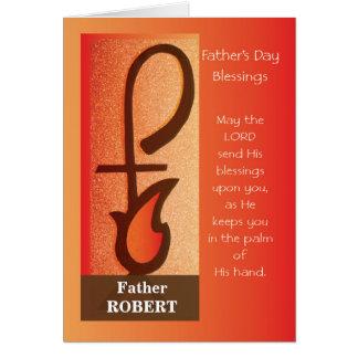 Priest Father's Day Custom Name Shepherd Staff Card