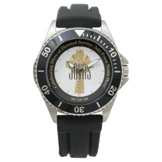 Priest Gift Ordination Anniversary Sporty Custom Watch