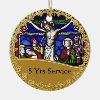 Priest Ordination 5th Anniversary Commemorative Ceramic Ornament