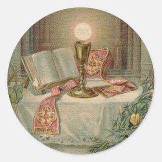 Priest Ordination Anniversary Classic Round Sticker