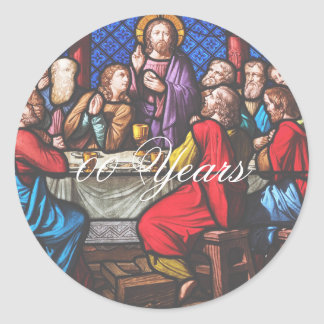 Priest Ordination Anniversary edit years Classic Round Sticker