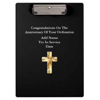 Priest Ordination Anniversary Gifts Commemorative Clipboard