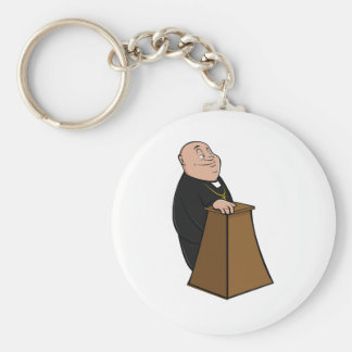 Priest Standing At A Pulpit Keychain