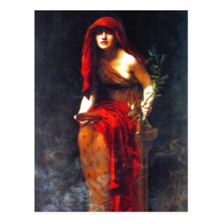 Priestess of Delphi ~ Collier Fine Art Painting Postcard