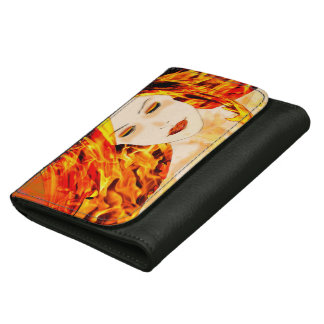 Priestess of Fire - Leather Wallet (black)