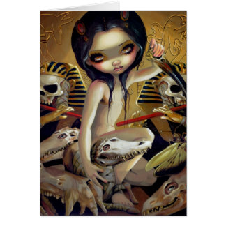 """Priestess of Nyarlathotep"" Greeting Card"
