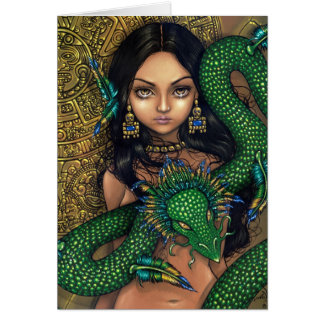 """Priestess of Quetzalcoatl"" Greeting Card"