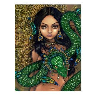 """Priestess of Quetzalcoatl"" Postcard"