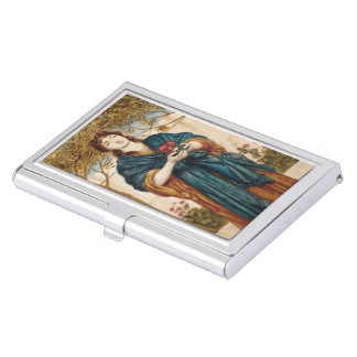 Priestess Offering Poppies - Business Card Holder