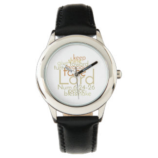 Priestly Blessing Men's Black Leather Watch
