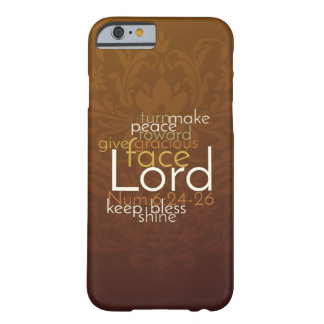 Priestly Blessing on Copper Brown Damask Barely There iPhone 6 Case