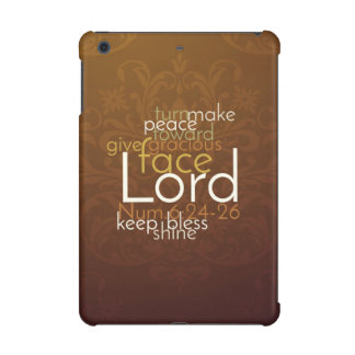 Priestly Blessing on Copper Brown Damask iPad Mini Retina Case