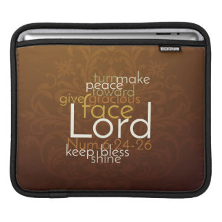 Priestly Blessing on Copper Brown Damask iPad Sleeve