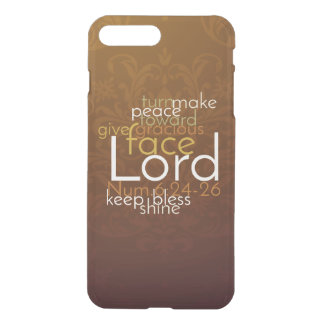 Priestly Blessing on Copper Brown Damask iPhone 8 Plus/7 Plus Case