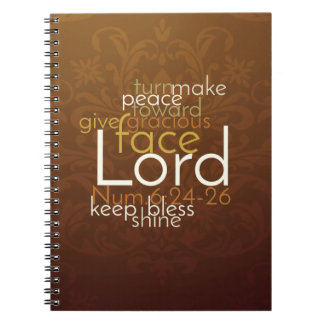Priestly Blessing on Copper Brown Damask Notebooks