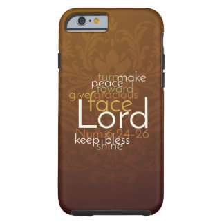 Priestly Blessing on Copper Brown Damask Tough iPhone 6 Case