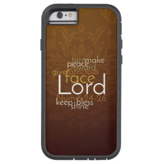 Priestly Blessing on Copper Brown Damask Tough Xtreme iPhone 6 Case