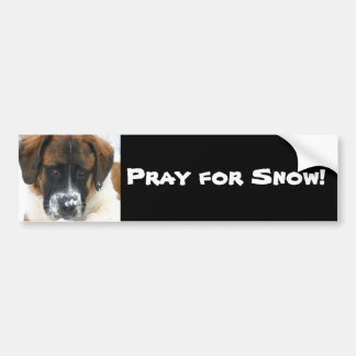 Priez pour la neige ! autocollant de voiture