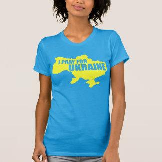 Priez pour T à extrémité élevé des femmes de l Ukr T-shirts