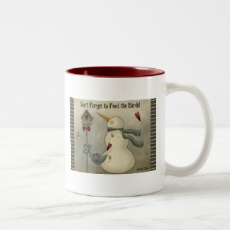 Prim Country Christmas Winter Snowman Coffee Mug