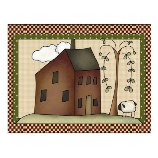 Prim House any purpose postcard