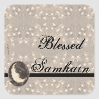 Prim Moon and Stars Samhain Square Sticker