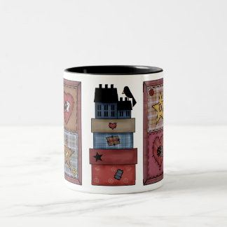 Prim Quilt Patches Mug