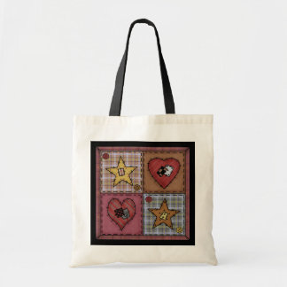 Prim Quilt Patches Tote