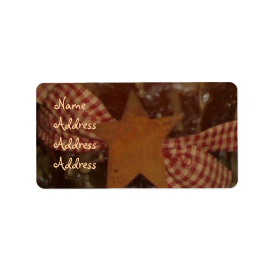 Prim/Star Candle Address Labels