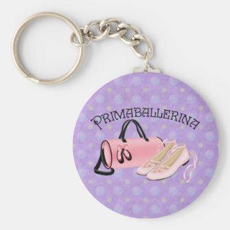 Prima Ballerina Basic Round Button Keychain