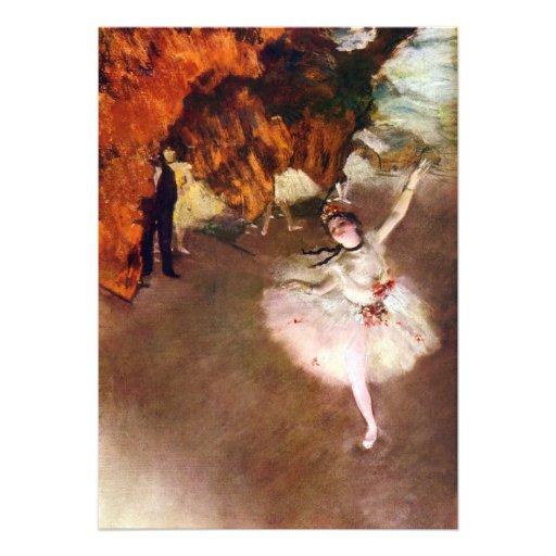 Prima Ballerina by Edgar Degas, Vintage Ballet Art Personalized Invitation