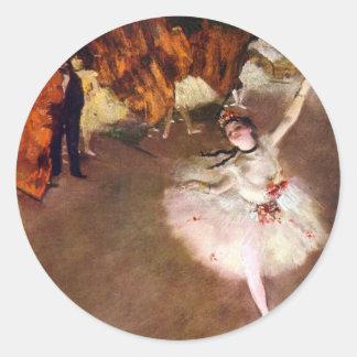 Prima Ballerina by Edgar Degas, Vintage Ballet Art Sticker