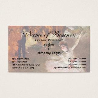 Prima Ballerina; the Star by Edgar Degas Business Card
